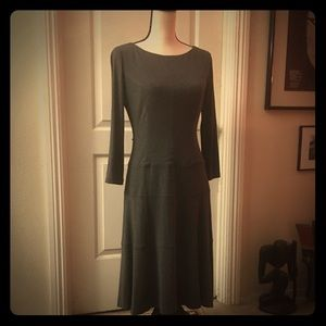 Classic Anne Klein Grey Stretch Jersey Dress SZ 4